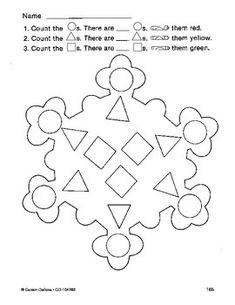 This Christmas / Winter activity by Carson Dellosa is a fun, free activity for children in grades prekindergarten through 1. Have students count the shapes in the snowflake and then color the holiday picture. Sharpen math and fine motor skills while having holiday fun at the same time!