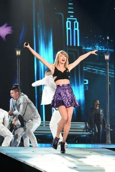 "Taylor Swift performs during the ""1989"" world tour at the Tokyo Dome on May 5 in Tokyo, Japan. We must say her outfit is pretty flippin' cute."