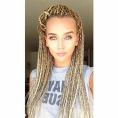 I really wanna try this on my own hair..who says white girls cant rock box braids