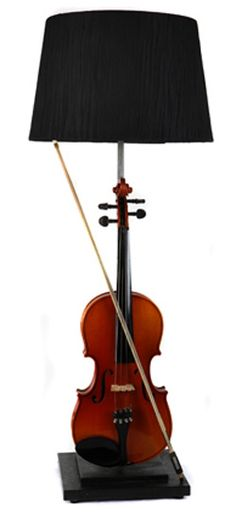 Upcycle a violin into a table lamp. Soooo cool!                                                                                                                                                                                 More