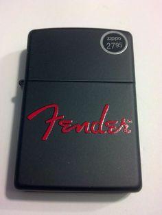 2014 New Design Fender Red Logo Black Matte Windproof Zippo Lighter #28734
