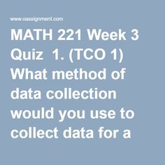 Math 221 Week 8 Final Exam (Version 2)