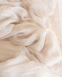 Our Gossamer textile is made of an ultra sheer gauze silk with a romantic drape. Our Gossamer textile is made of an ultra sheer gauze silk with a romantic drape and delicate textu Cream Aesthetic, Purple Aesthetic, Classy Aesthetic, Aesthetic Outfit, Aesthetic Vintage, Fabric Textures, Textures Patterns, Soft Fabrics, Motif Art Deco