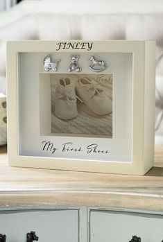 Keepsakes & Baby Announcements Baby Girl My First Footprint Ceramic Frame Pink Cream Ribbon Baby Shoes Other Baby Keepsakes