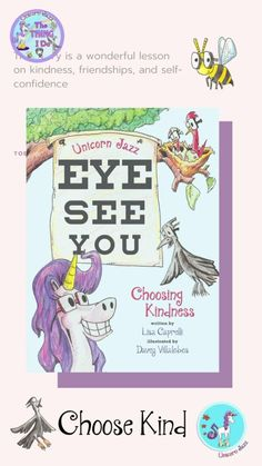 Kindness & Happiness go hand in hand. will be speaking about her author journey on tomorrow's show -- and why these messages are so important that go beyond the book: Eye See You Choosing Kindness. Unicorn Jazz children's book series! Children's Books, Good Books, Books About Kindness, Unicorn Books, Bullying Prevention, School Events, Fantasy Story, Nonfiction Books, Book Series