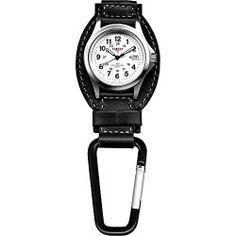 Dakota Watch Company Leather Field Clip Watch