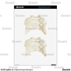 Gold Lights Xbox 360 Controller Skins