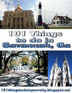 101 attractions and events in Savannah Georgia, 101 things to Do... Done most of these!: