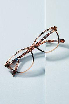 Colorblocked Cat-Eye Reading Glasses