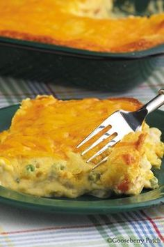 cornbread chicken pot pie... My mouth is watering for this!
