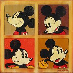 """Four Square Mickey"" by Trevor Carlton - Original Artwork on Canvas."