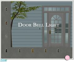 Door Bell Light.  Sims 2 by DOT of The Sims Resource.  Found in TSR Category 'Objects'