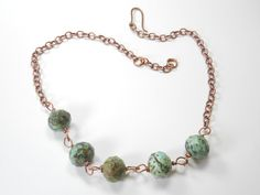 amazonite necklace from Lionart Designs