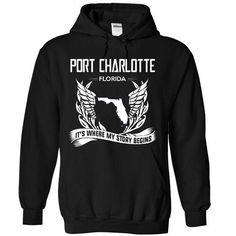 Port charlotte - Florida Its Where My Story Begins - #tshirt crafts #cowl neck hoodie. BEST BUY  => https://www.sunfrog.com/States/Port-charlotte--Florida-Its-Where-My-Story-Begins-3202-Black-Hoodie.html?60505