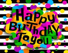 Black White Striped Happy Birthday to You Vinyl Studio Backdrop Background Happy Birthday Greetings Friends, Birthday Wishes And Images, Best Birthday Wishes, Happy Birthday Pictures, Happy Birthday Greeting Card, Happy Birthday Messages, Happy Birthdays, Happy Birthday Wallpaper, Birthday Background
