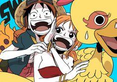 Luffy, Nami and Biri