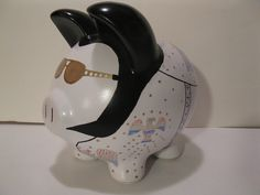 Elvis Piggy Banks - Made To Order - Would you believe......ELVIS   (Unofficial). $42.00, via Etsy.