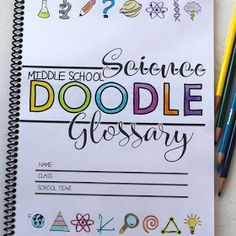 NGSS Doodle Note Glossary for Middle School