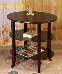 Look at this Three-Tier Oval End Table on #zulily today!