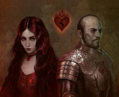 Melisandre and Stannis by Bellabergolts