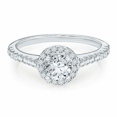 NEW FAVORITE RING: Helzberg Diamond Masterpiece® 1 ct. tw. Engagement Ring in 18K Gold available at #HelzbergDiamonds