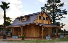 quality barns and Buildings - horse barns - all wood quality custom wood barns - barn homes - rustic barn home - horse facility - horse stalls - riding arenas - pole barns - metal roofing - wood homes - barn builder - nationwide barn - Custom home builder Pole Barn House Plans, Pole Barn Homes, Barn Plans, Pole Barns, Gambrel Barn, Gambrel Roof, Metal Building Homes, Building A House, Rustic Barn Homes
