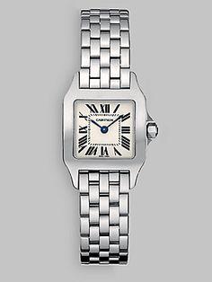 Cartier Santos Demoiselle Stainless Steel Watch on Bracelet, Small