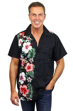 Joe Browns Mens Funky Floral Pocket Detail Henley Top