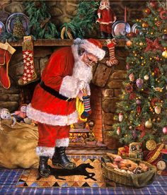 A very traditional Father Christmas in the ideal setting.  Susan Brabeau