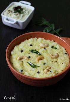 Ven pongal recipe or khara pongal is a South Indian comfort food often made as a naivedyam to GODS during varalakshmi puja navratri. Ven Pongal Recipe, Veg Recipes, Indian Food Recipes, Vegetarian Recipes, Cooking Recipes, Recipies, Oats Recipes, Vegan Vegetarian, Food Recipes