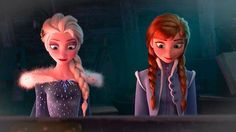 Elsa and Anna from Olaf's frozen adventure