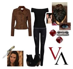 """""""Rose Hathaway - Vampire Academy"""" by caro-love-love ❤ liked on Polyvore featuring moda, Linea Weekend, ONLY, Hervé Léger, Les Néréides, Dolce Vita e 1&20 Blackbirds"""