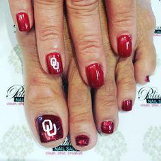 #gameDay ManiPedi. Go #OU! #oklahoma #theUniversityOfOklahoma #oklahomaFootball…
