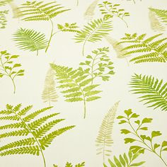Buy Green Maui Furnishing Fabric from our View All Fabrics range at John Lewis & Partners. Lined Curtains, Curtain Lining, Botanical Bathroom, Fabric Online, Maui, Plant Leaves, Exotic, Weaving, Tapestry