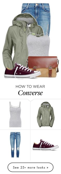 """Untitled #14526"" by nanette-253 on Polyvore featuring J Brand, The North Face, Converse, women's clothing, women, female, woman, misses and juniors"