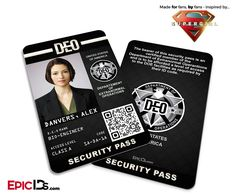 Supergirl TV Series Inspired Department of Extranormal Operations (D.E.O.) Security ID - Alex Danvers