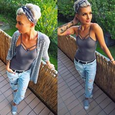 Likes, 52 Comments – Jenny Schmidt ( Pixie Hairstyles, Pretty Hairstyles, Bandana Hairstyles Short, Headband Short Hair, Pixie Updo, Messy Pixie Haircut, Undercut Hairstyles Women, Short Pixie Haircuts, Headband Hairstyles