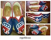 Custom Hand Painted Republican Elephant TOMS Shoes    LOVE THESE!!