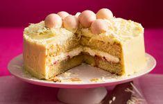 Birthday Cake Icing, Vegan Birthday Cake, Homemade Cake Recipes, Baking Recipes, Easy Rainbow Cake Recipe, Oreo Cookie Cake, Afternoon Tea Cakes, Gluten Free Carrot Cake, White Chocolate