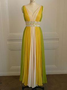 1970s vintage formal gown