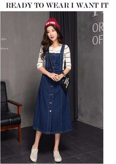 Midi vestidos Jeans 2016 verão novo estilo das mulheres vestidos casuais moda de algodão azul vestido longo para a mulher Plus…