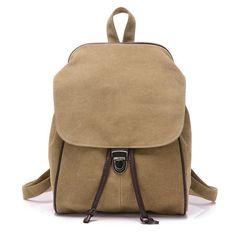 KVKY New vintage women backpack canvas bag student school bag travel backpack Girl Ladies Travel Bag mochila masculina bolsa