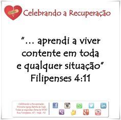 Aqui vivemos 1 dia de cada vez! Compartilhe Curta Comente a palavra de Deus! #celebrandoarecuperacao #crpibi