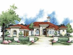 ABOUT THIS PLAN  Keywords: Italianate , 5 Bedroom , 1 Story See more from this designer The Teodora redefines the interplay between indoor a...