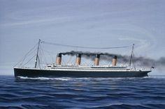 Titanic Ship, Rms Titanic, Titanic History, Cute Cartoon Girl, Beach Art, Sailboat, Liverpool, Ocean, Ken Marshall