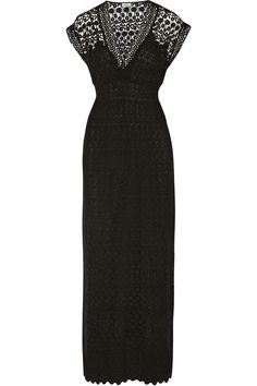 crocheted cotton maxi dress