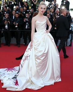 Elle Fanning at the 'Ismael's Ghosts' screening and Opening Gala during the 70th Annual Cannes Film Festival