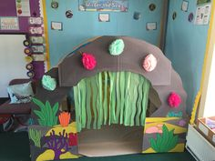 Our brand new Under the Sea role play area! The Kasbah is making role play areas so much easier to create. Classroom Setting, Classroom Displays, Classroom Themes, Under The Sea Crafts, Under The Sea Theme, Dramatic Play Area, Dramatic Play Centers, Sharing A Shell, Role Play Areas
