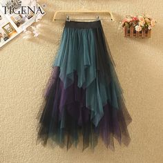 Mesh Skirt, Pleated Skirt, Party Fashion, Fashion 2020, Long Tutu, Cheap Skirts, Party Skirt, Tulle, Casual Dresses
