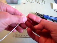 Part 1 Hint Jewelry: How to Make Hammered Sterling Silver Wire Hoop Earrings #jewelrymaking